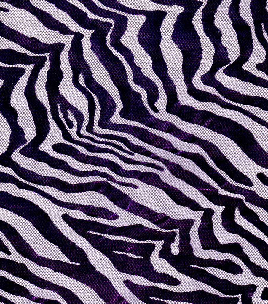 Foiled Zebra Tulle Mystic Purple
