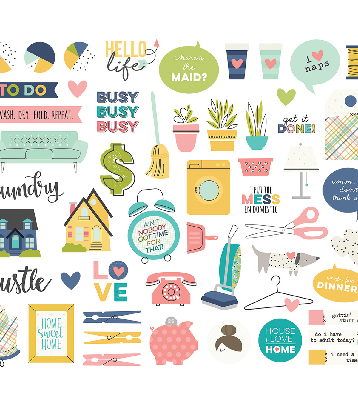 Domestic Bliss Bits & Pieces Die-Cuts