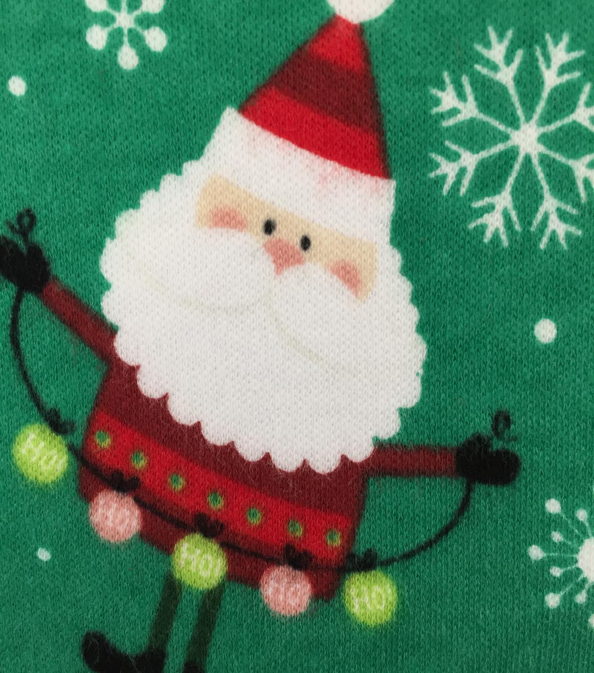 Doodles Christmas Interlock Cotton Fabric 57\u0022-Santa