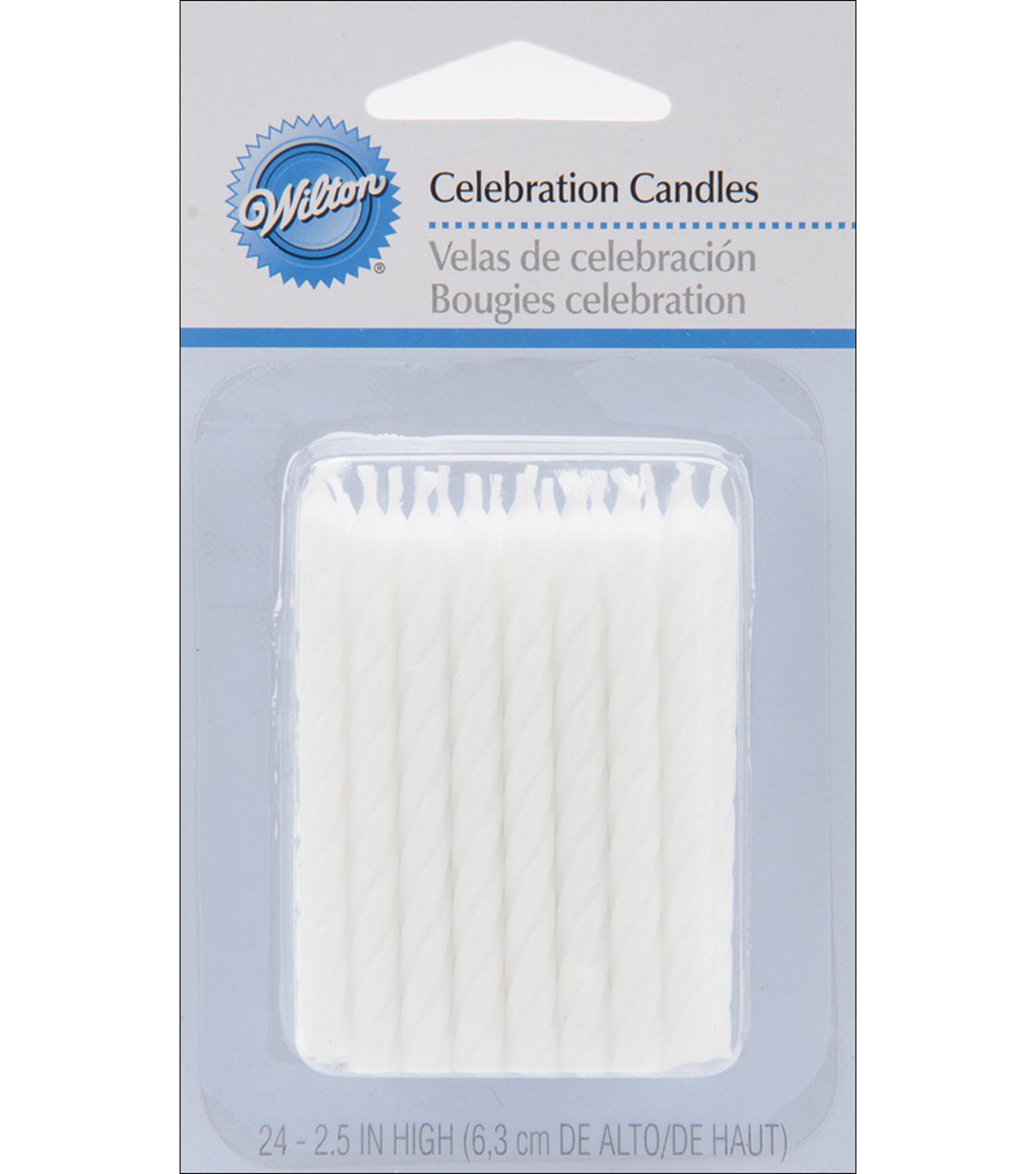 Wilton 24pk Bday Candles White