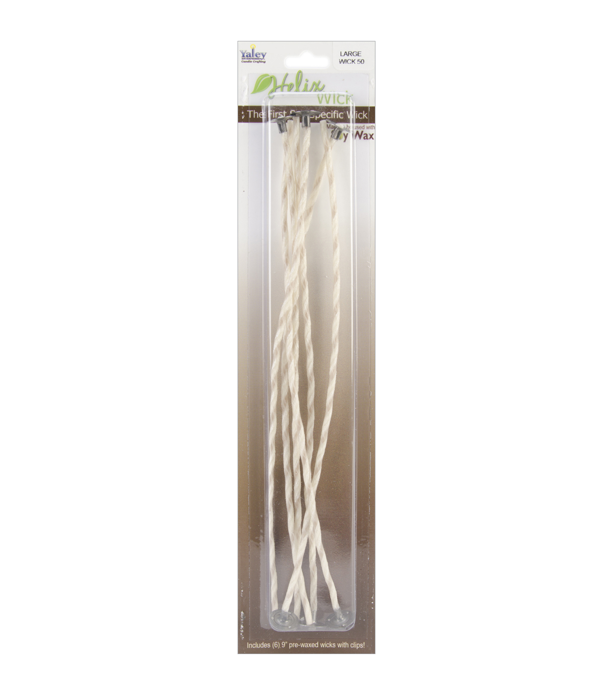 Yaley Candle Crafting Helix Wicks With Clip Large