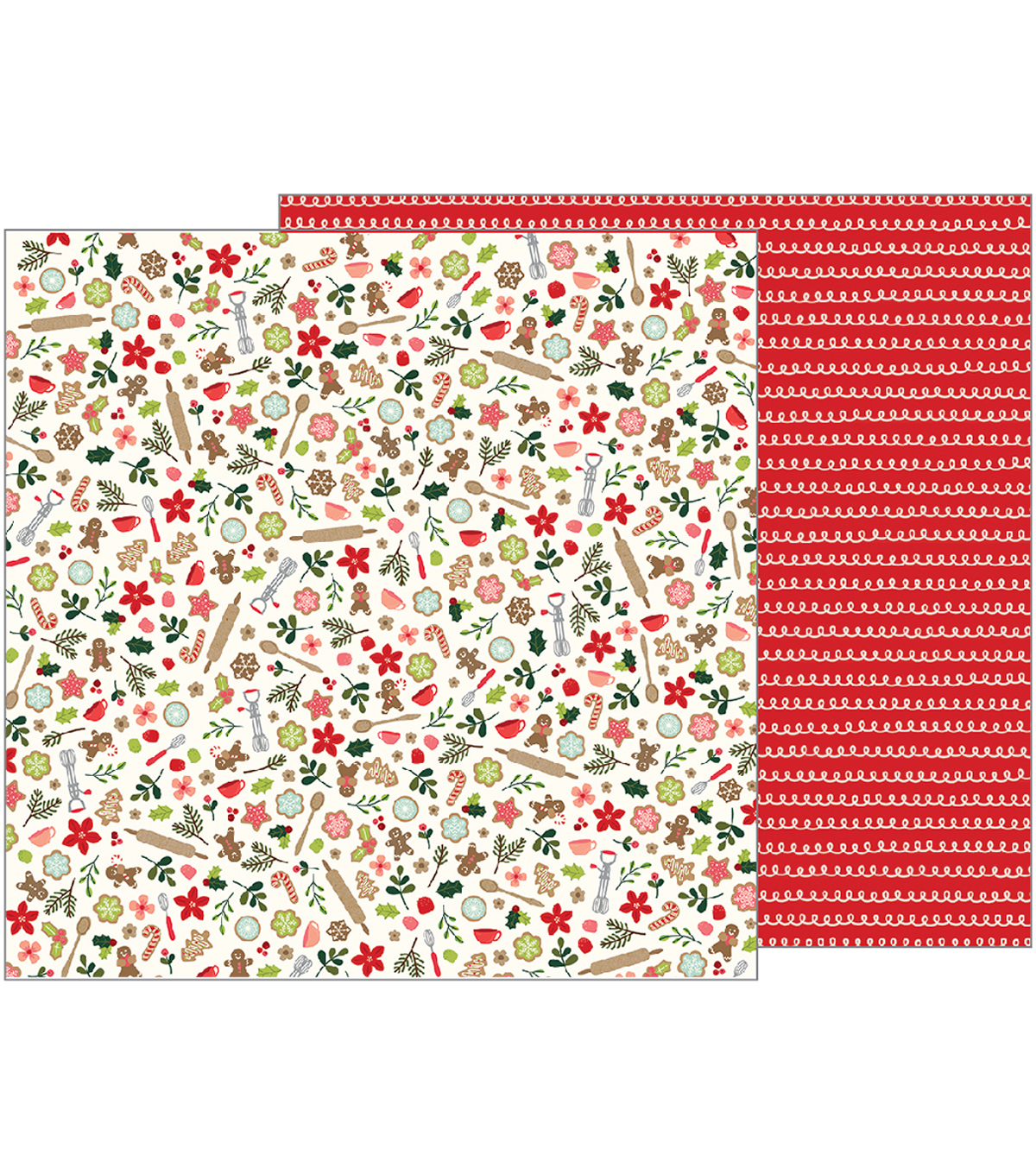 Merry Merry Double-Sided Cardstock 12\u0022X12\u0022-Baking Delights