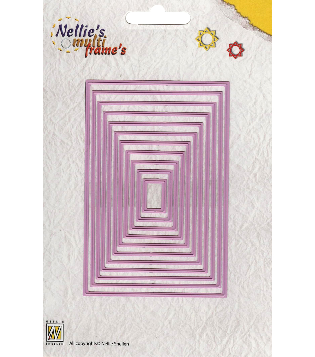 Nellie\u0027s Choice Multi Frame Dies-Straight Rectangle,