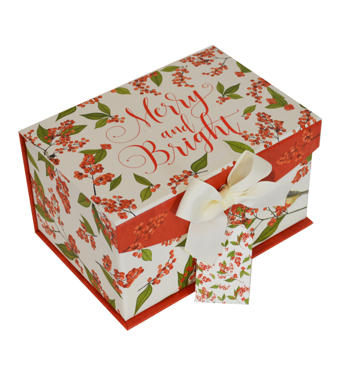 Maker\u0027s Holiday Small Flip Top Box-Wild Berries with Merry & Bright