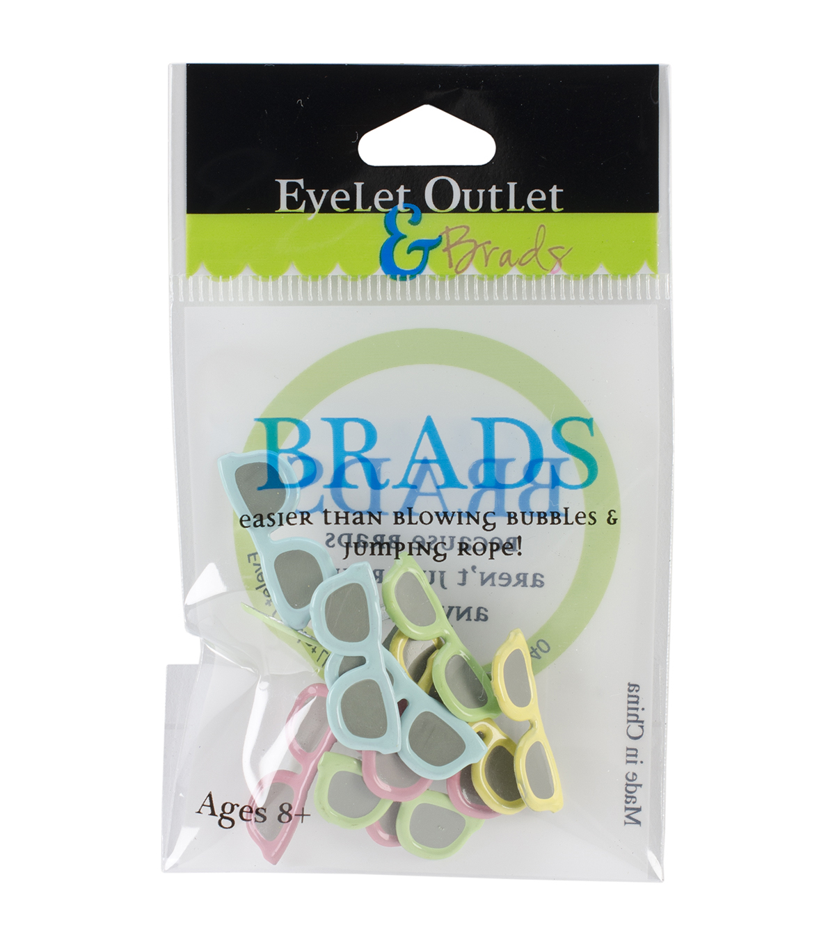 Eyelet Outlet Shape Brads-Sunglasses Pastel