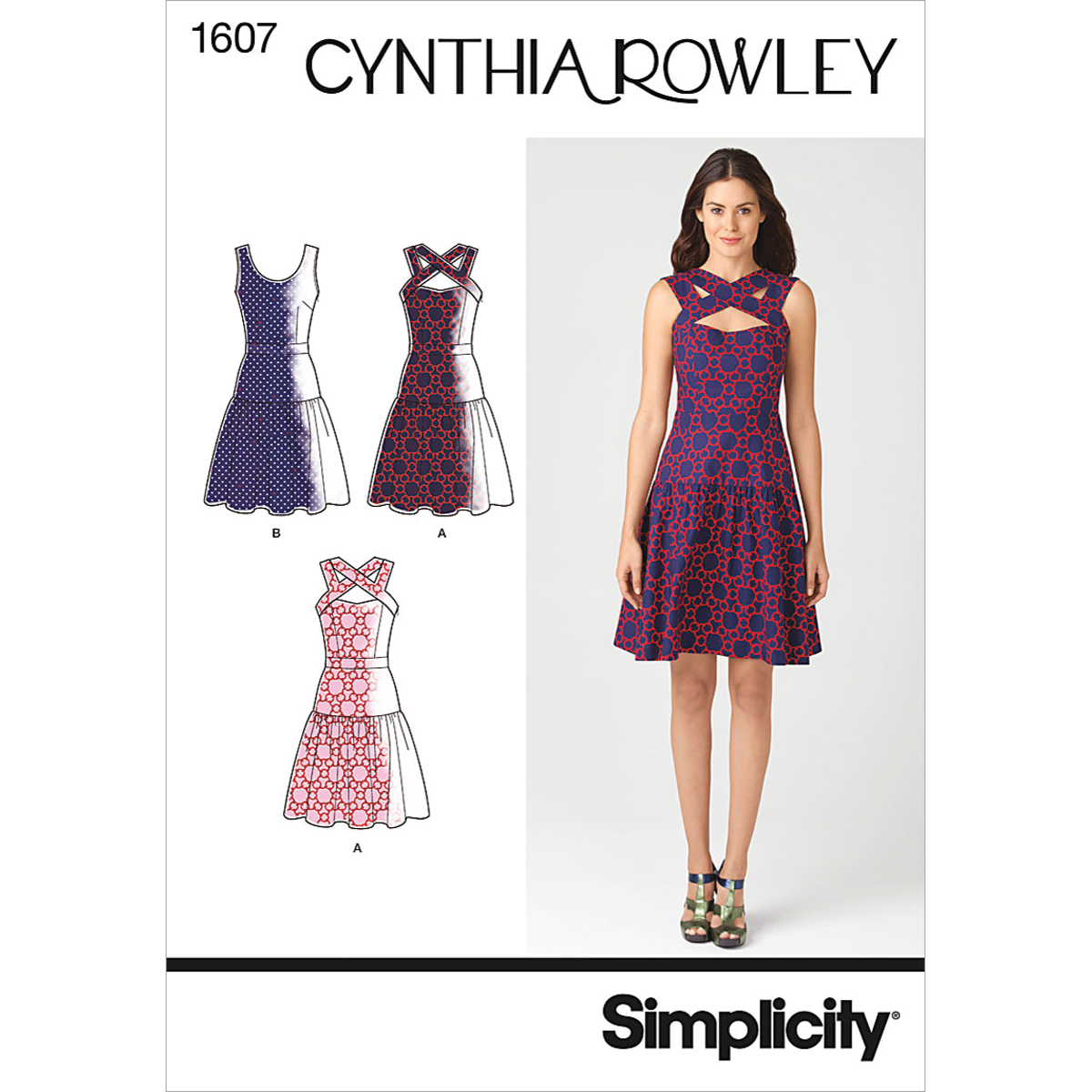 Simplicity Pattern 1607H5 6-8-10-12--Simplicity Misses Dr