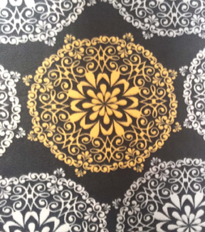 Anti-Pill Fleece Fabric 59\u0022-Roosters Lace Medallions