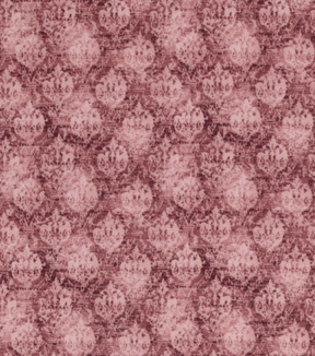Vintage Cotton Fabric 43''-Red Distressed Damask