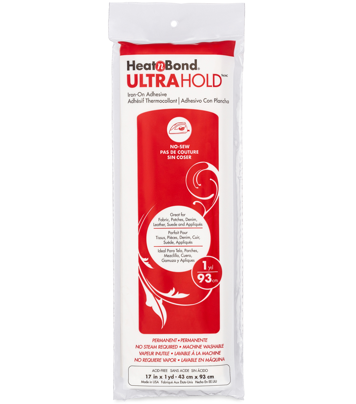 Heat\u0027n Bond Ultra Hold Iron-On Adhesive-17\u0022X36\u0022