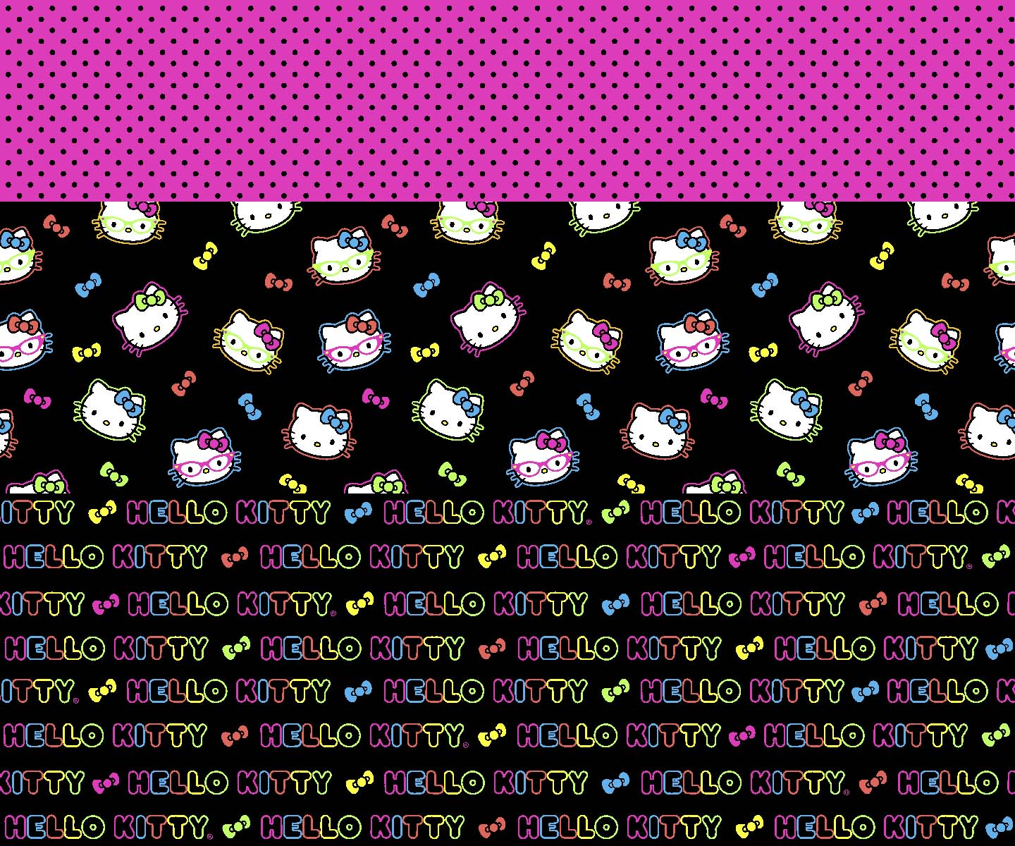 Sanrio Hello Kitty® Mock Smock Fabric 18\u0022-Neon