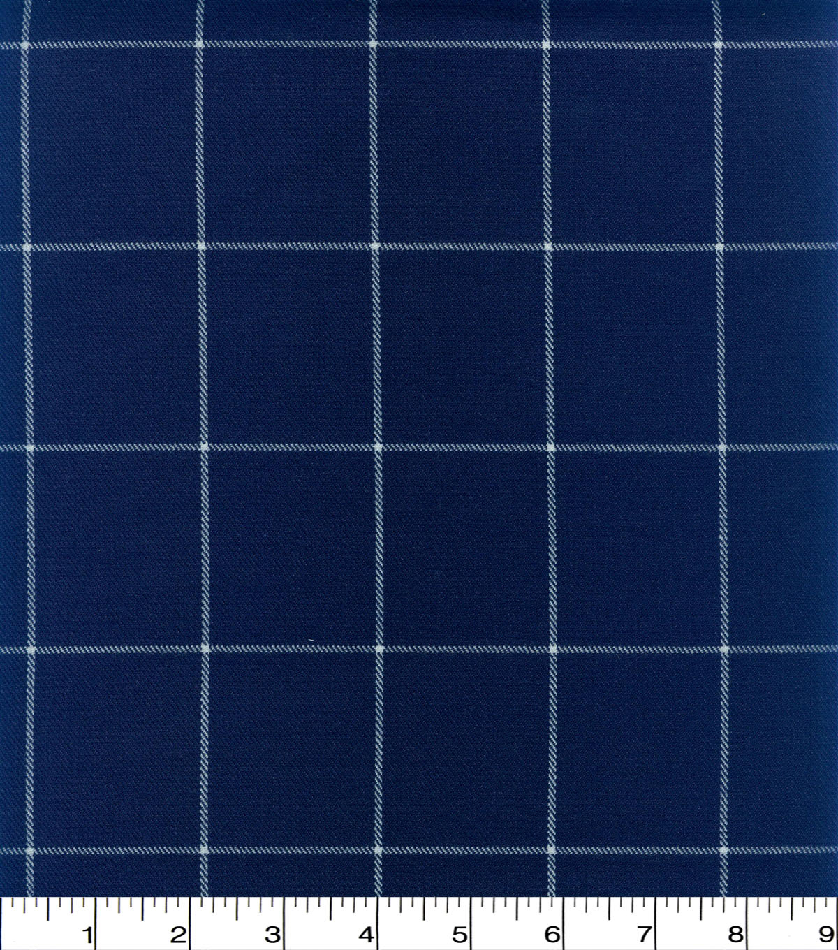 Perfectly Plaid Fabric-Suiting Navy White