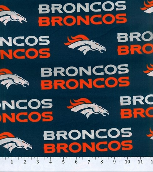 Denver Broncos Cotton Fabric 58\u0022-Mascot Logo