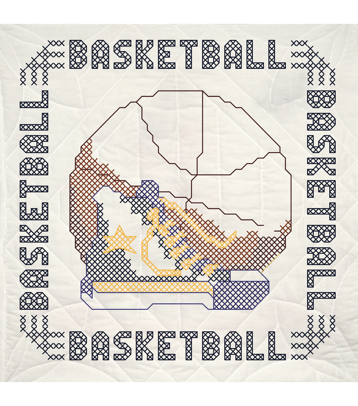 Fairway Stamped Quilt Blocks Boy's Basketball
