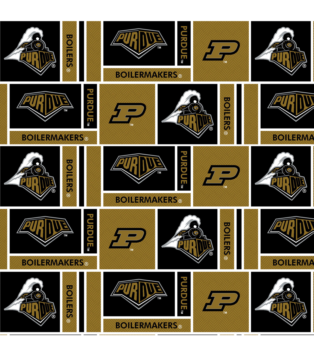Color printing purdue - Purdue University Boilermakers Cotton Fabric 43 U0022 Herringbone