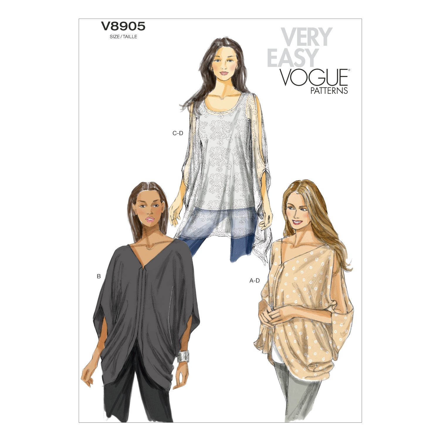 Mccall Pattern V8905 L-Xl-Xxl -Vogue Pattern