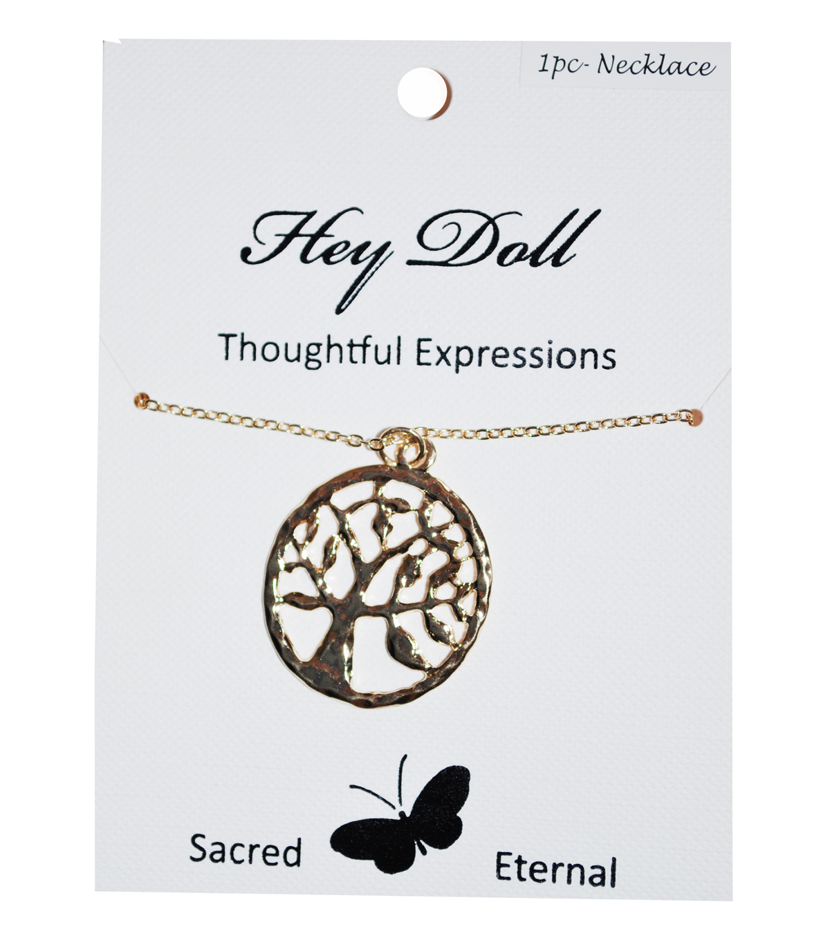 Hey Doll Gold Tree of Life Necklace
