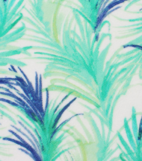 "Anti-Pill Fleece Fabric 59""-Watercolor Palm Leaves"