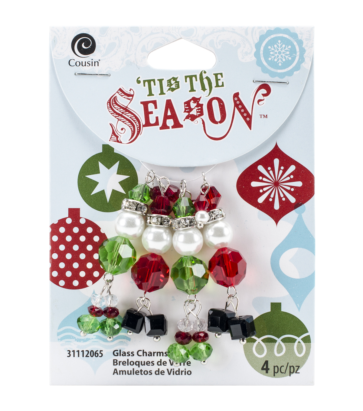 Cousin Corporation Tis The Season White & Green Santa & Elf Charms