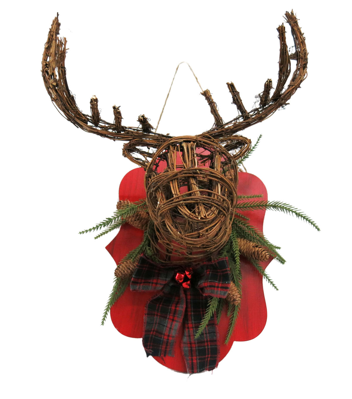 Maker\u0027s Holiday Rattan Deer Head Wall Decor