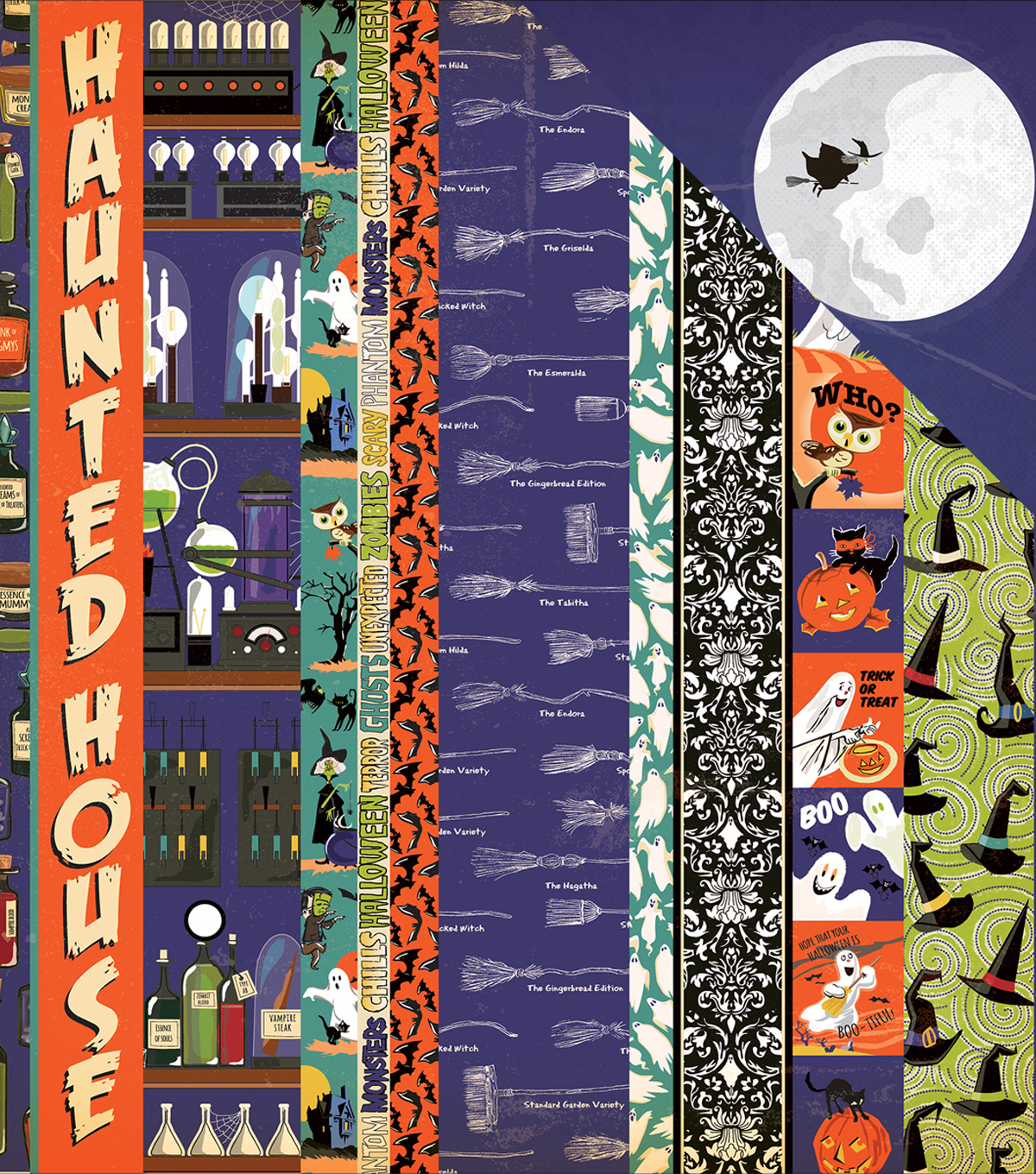 "Haunted House Double-Sided Cardstock 12""X12""-Border Strips"