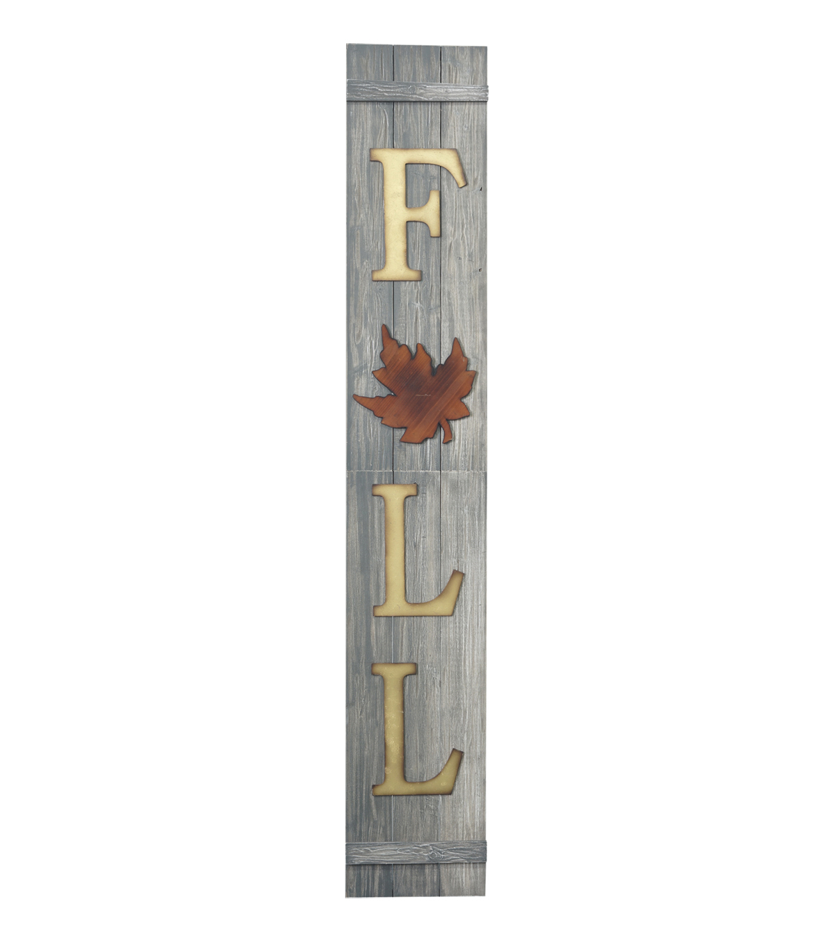 Fall Into Color Large Wood Porch Sign-Fall with Leaf