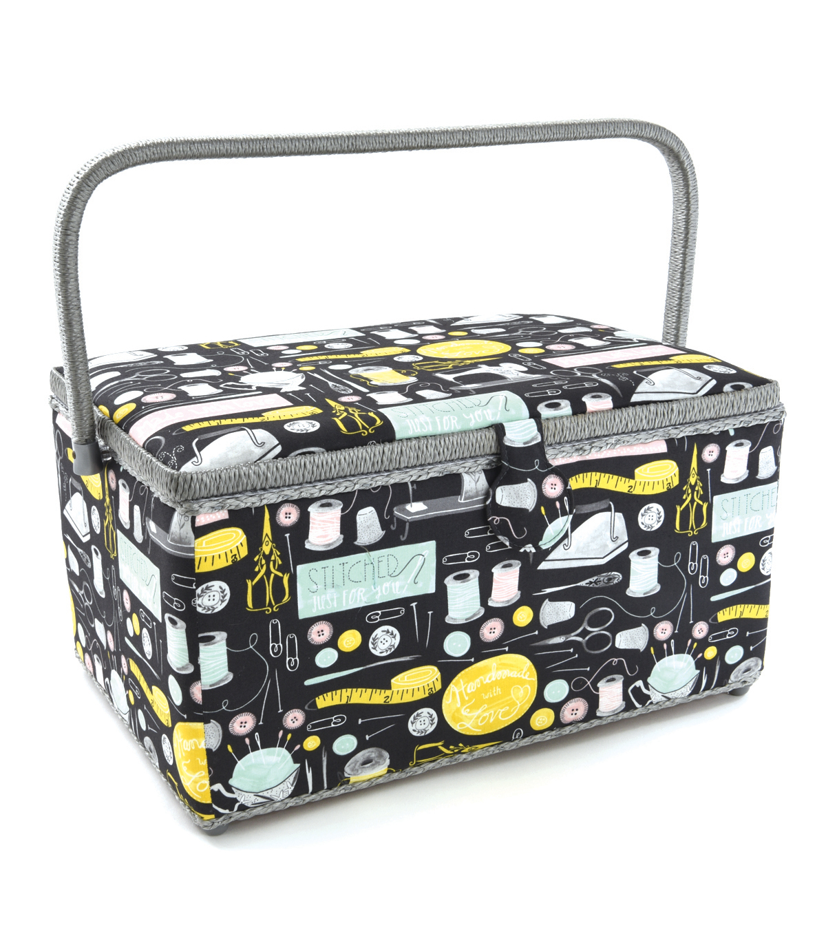 Extra Large Rectangle Sewing Basket-Gray