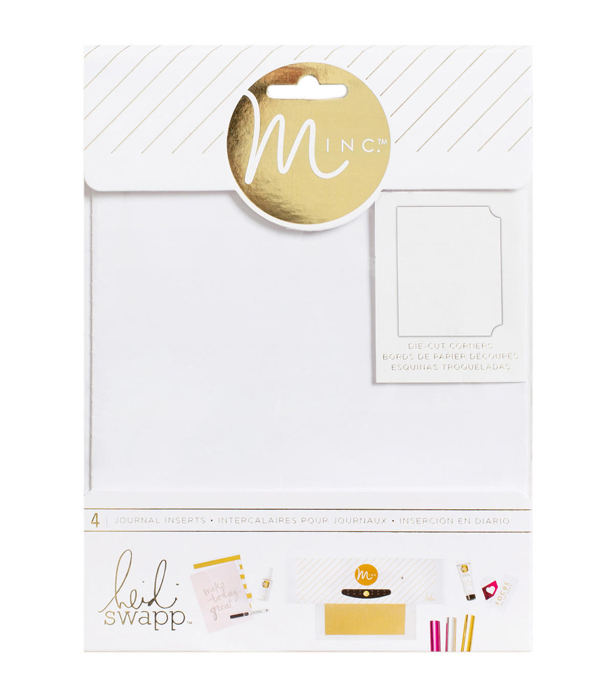 Heidi Swapp Minc Journal Inserts 6\u0022X8\u0022 4/Pkg-Tickets