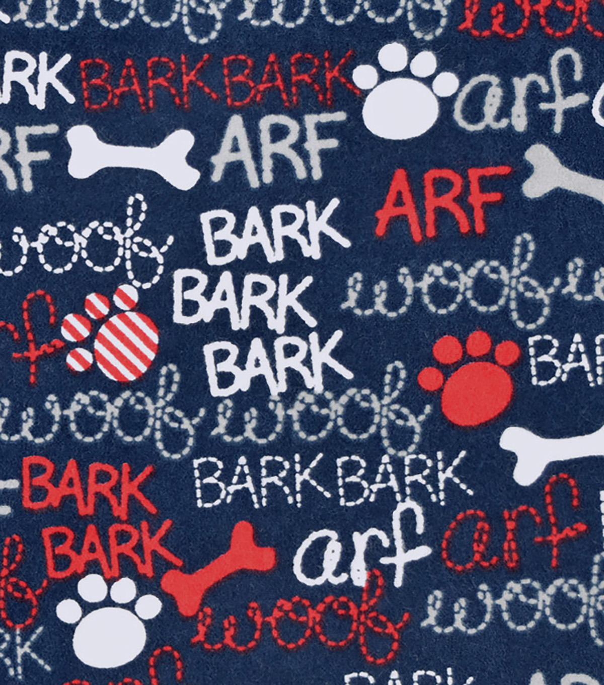 Snuggle Flannel Fabric 42''-Woof, Bark & Arf