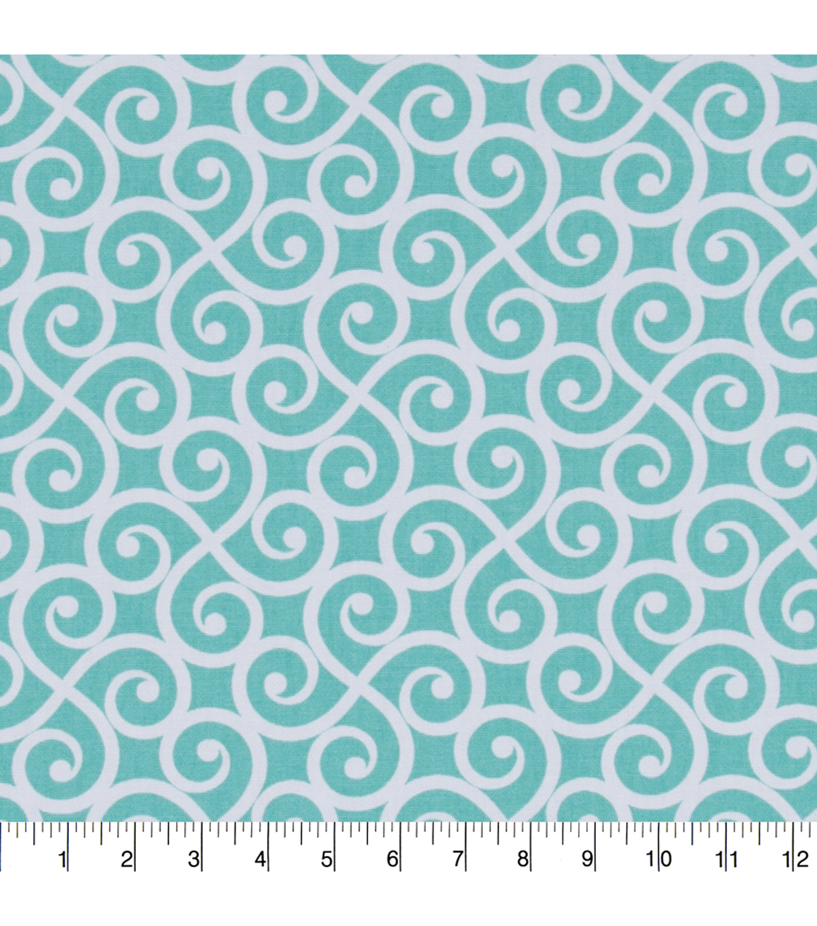 "Home Essentials Print Fabric 45""-Teal Seddon Panorama"