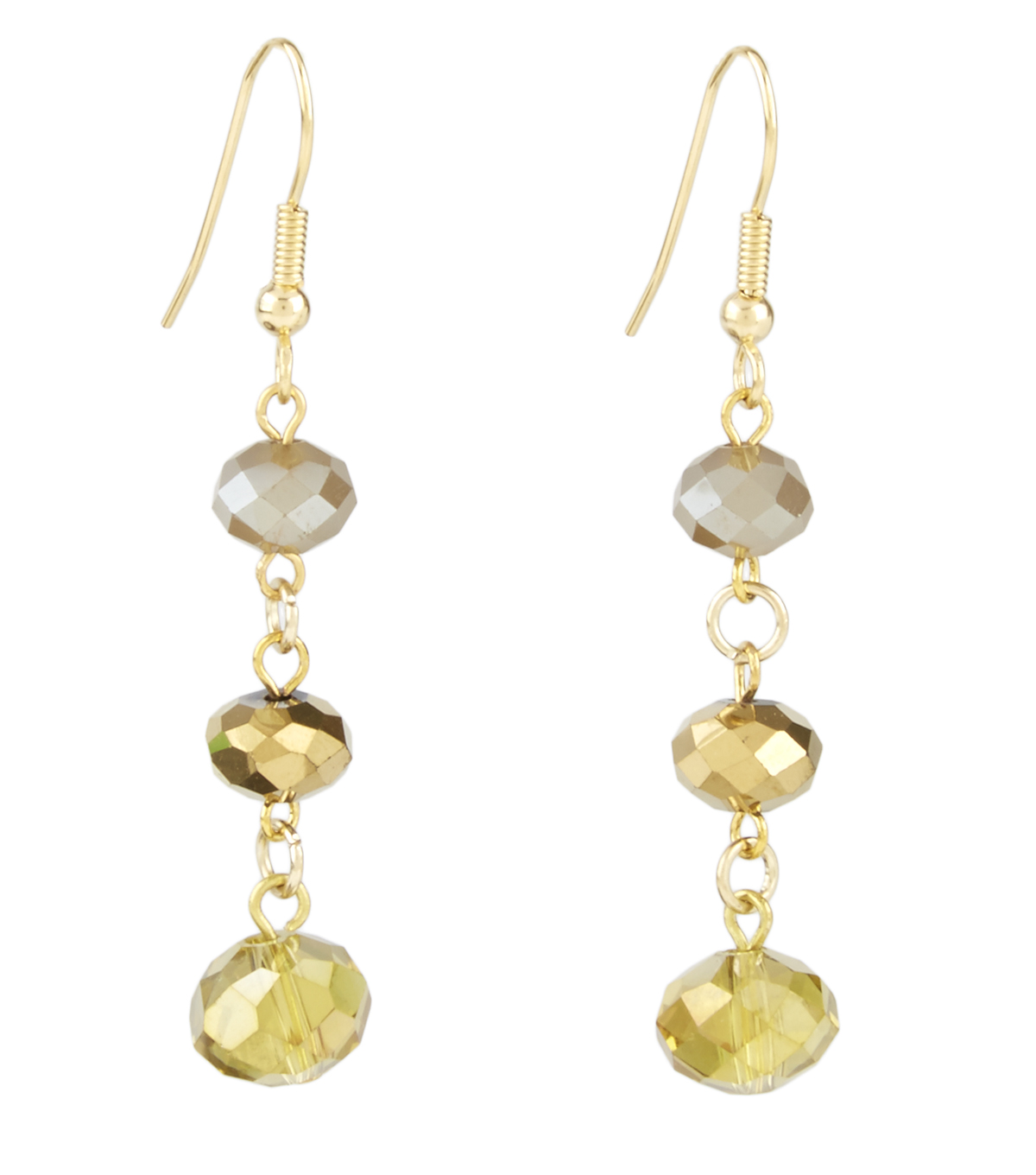 Three Drop Champagne Earring