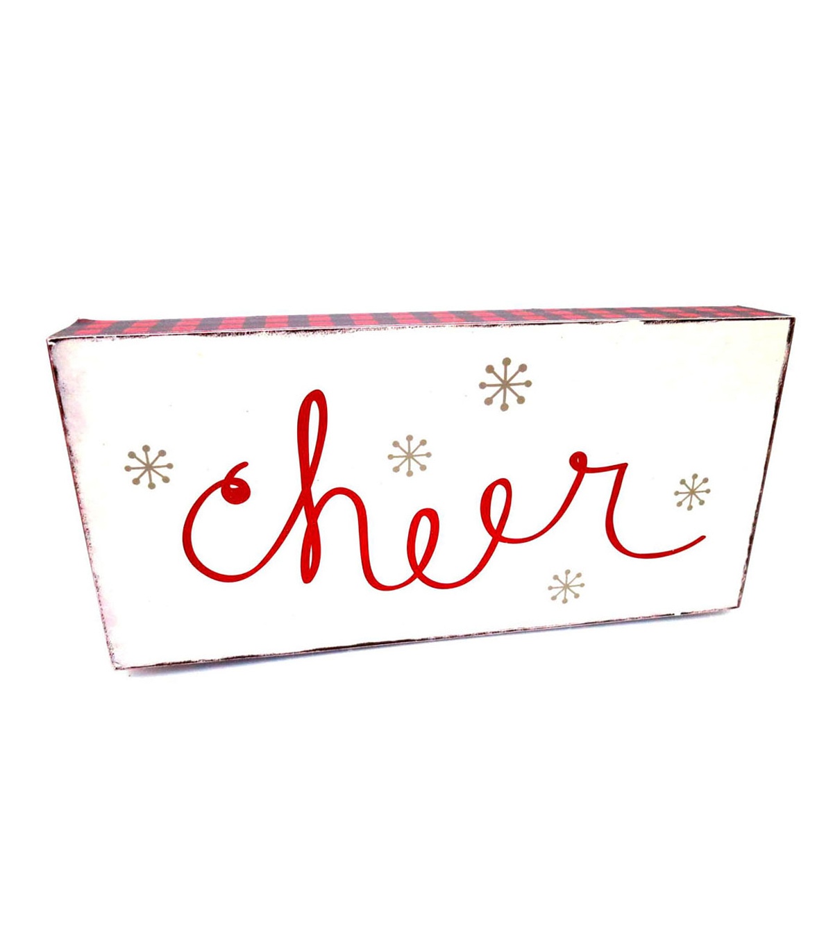 Maker's Holiday Table Decor Block-Cheer