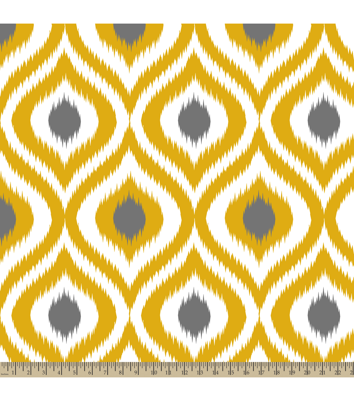 Anti-Pill Fleece Fabric Diamond Ogee Yellow