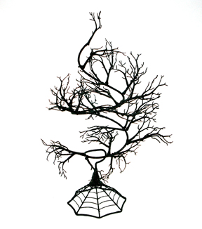 Maker\u0027s Halloween 24\u0027\u0027 Spooky Spiral Tree-Black