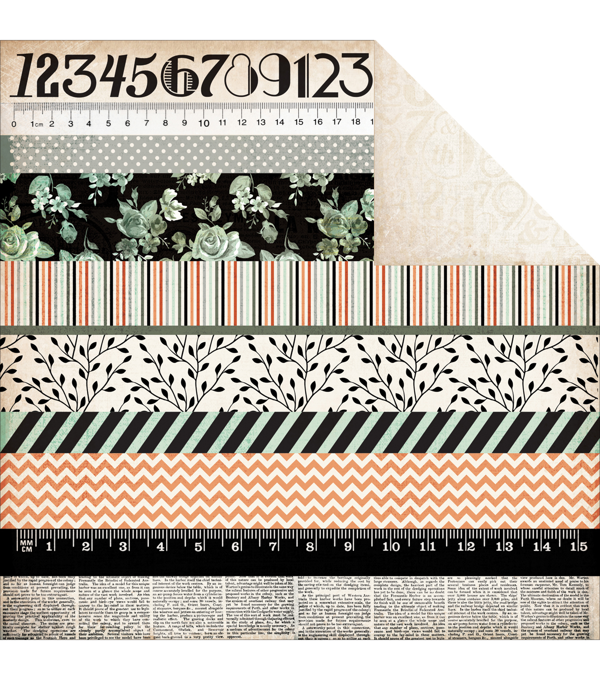 Kaisercraft Fearless - Mister Fox Double Sided Cardstock