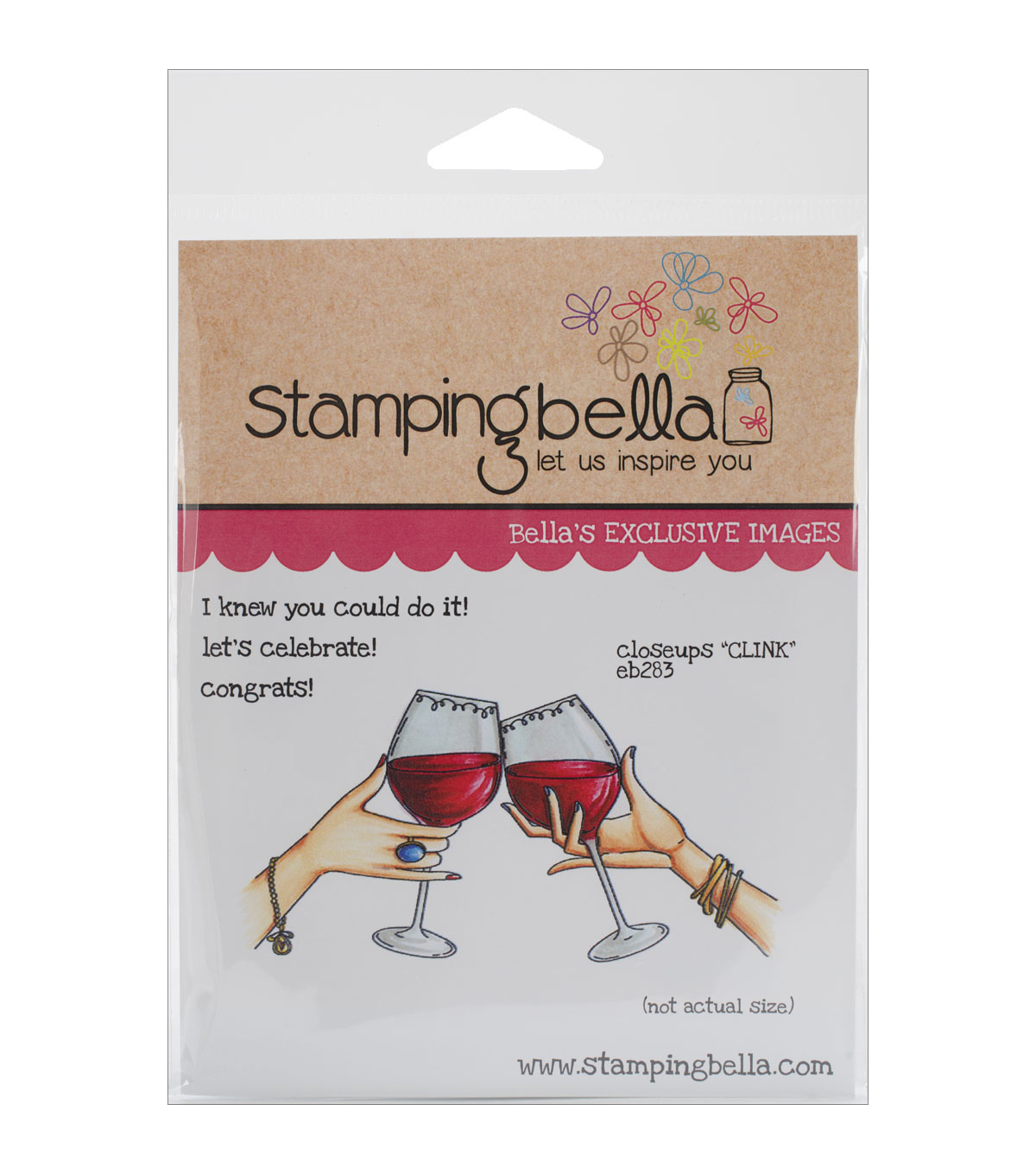 Stamping Bella Close-ups \u0027\u0027Clink\u0027\u0027 Cling Rubber Stamp