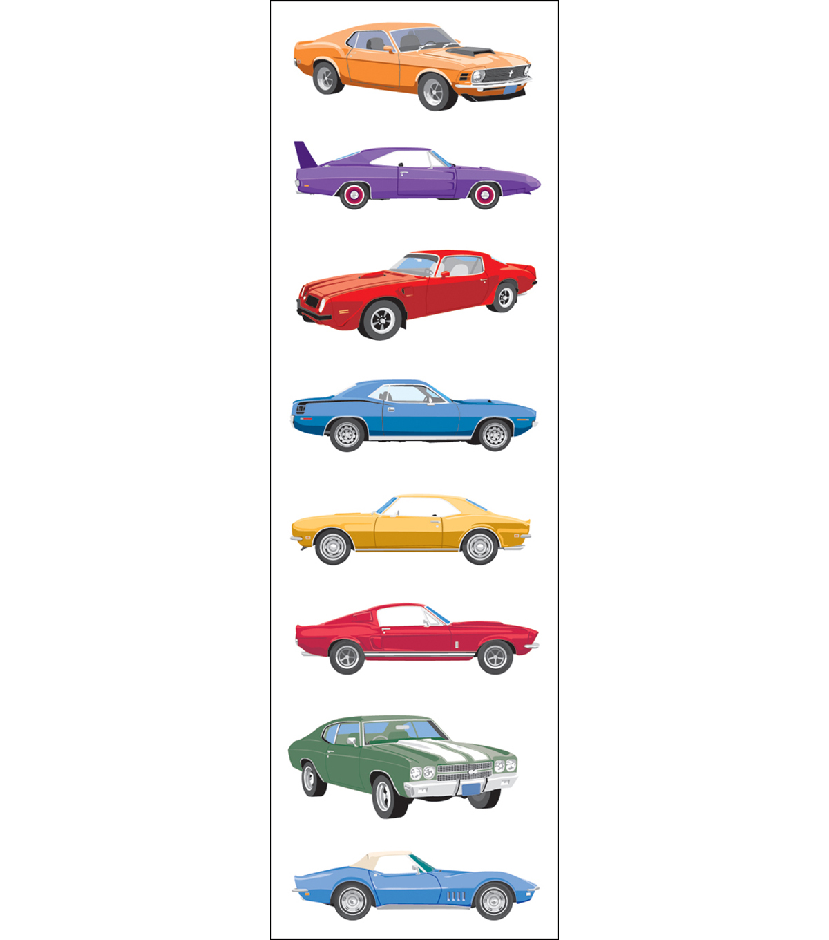 Mrs. Grossman's Stickers-Classic Cars