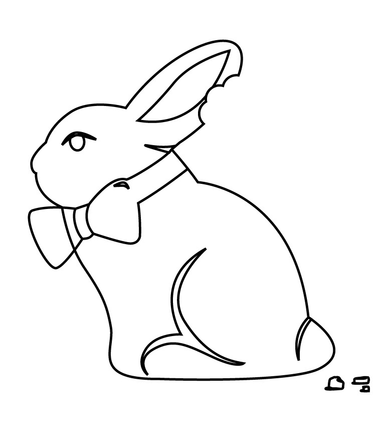 Gourmet Rubber Stamps Chocolate Bunny Cling Stamps