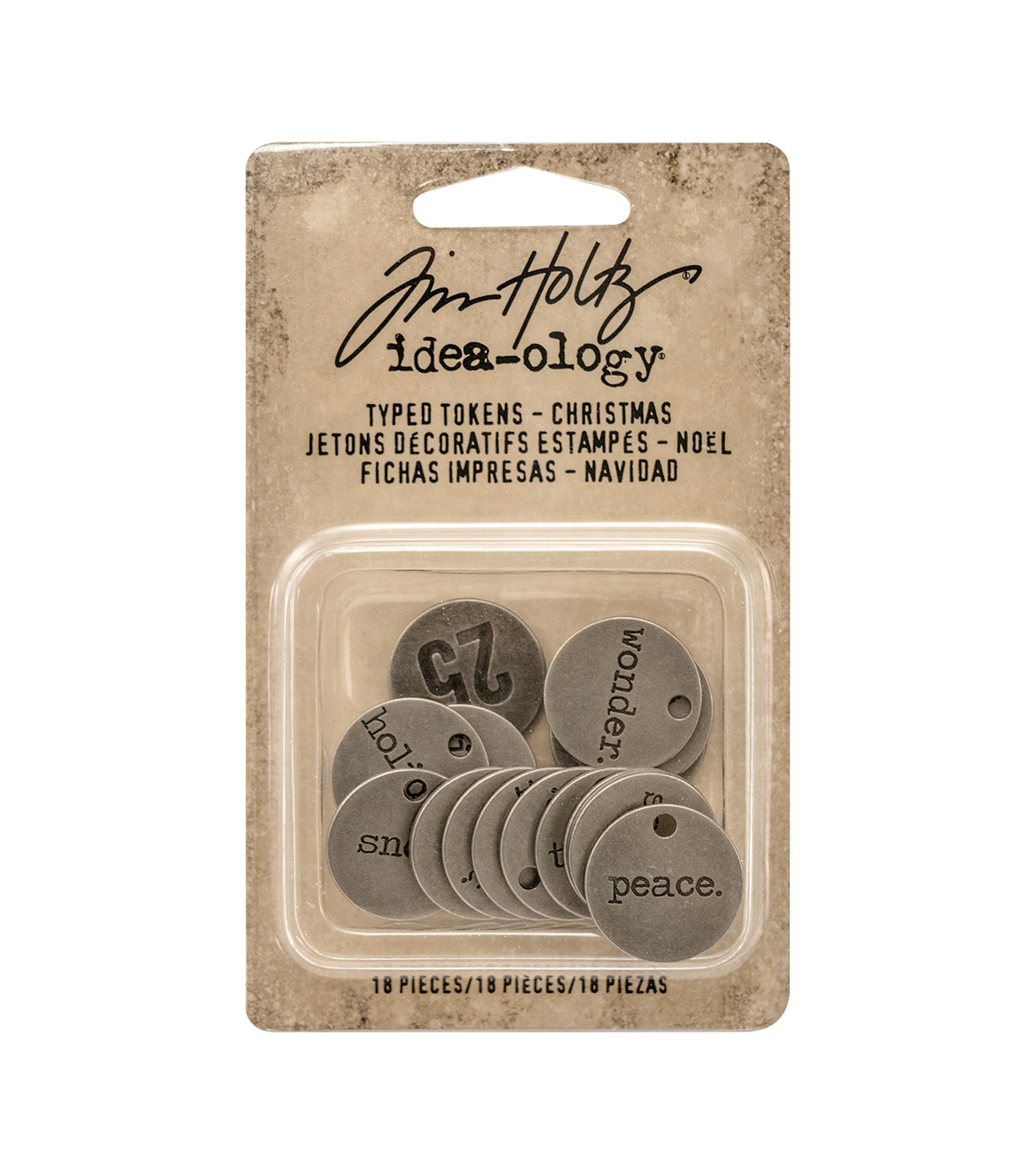 Tim Holtz Idea-ology Typed Tokens-Christmas