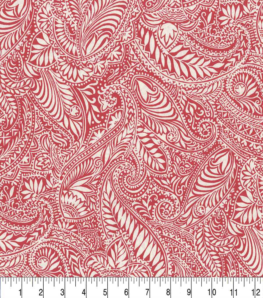 Keepsake Calico™ Cotton Fabric 44\u0022-Kenya Scarlet