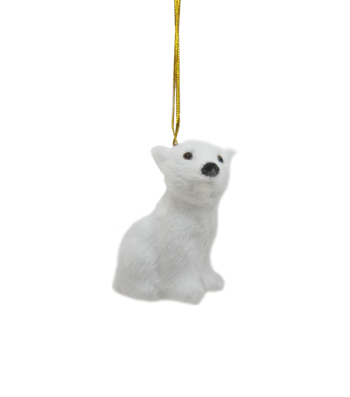 Maker\u0027s Holiday Christmas Fur Baby Polar Bear Ornament