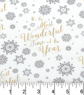 "Maker's Holiday Cotton Fabric 43""-Wonderful Time of the Year"