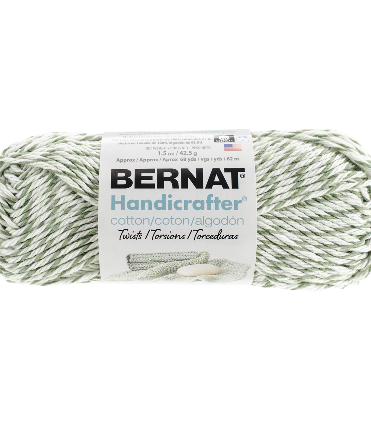 Bernat® Handicrafter Twisted Cotton Yarn 68 yds