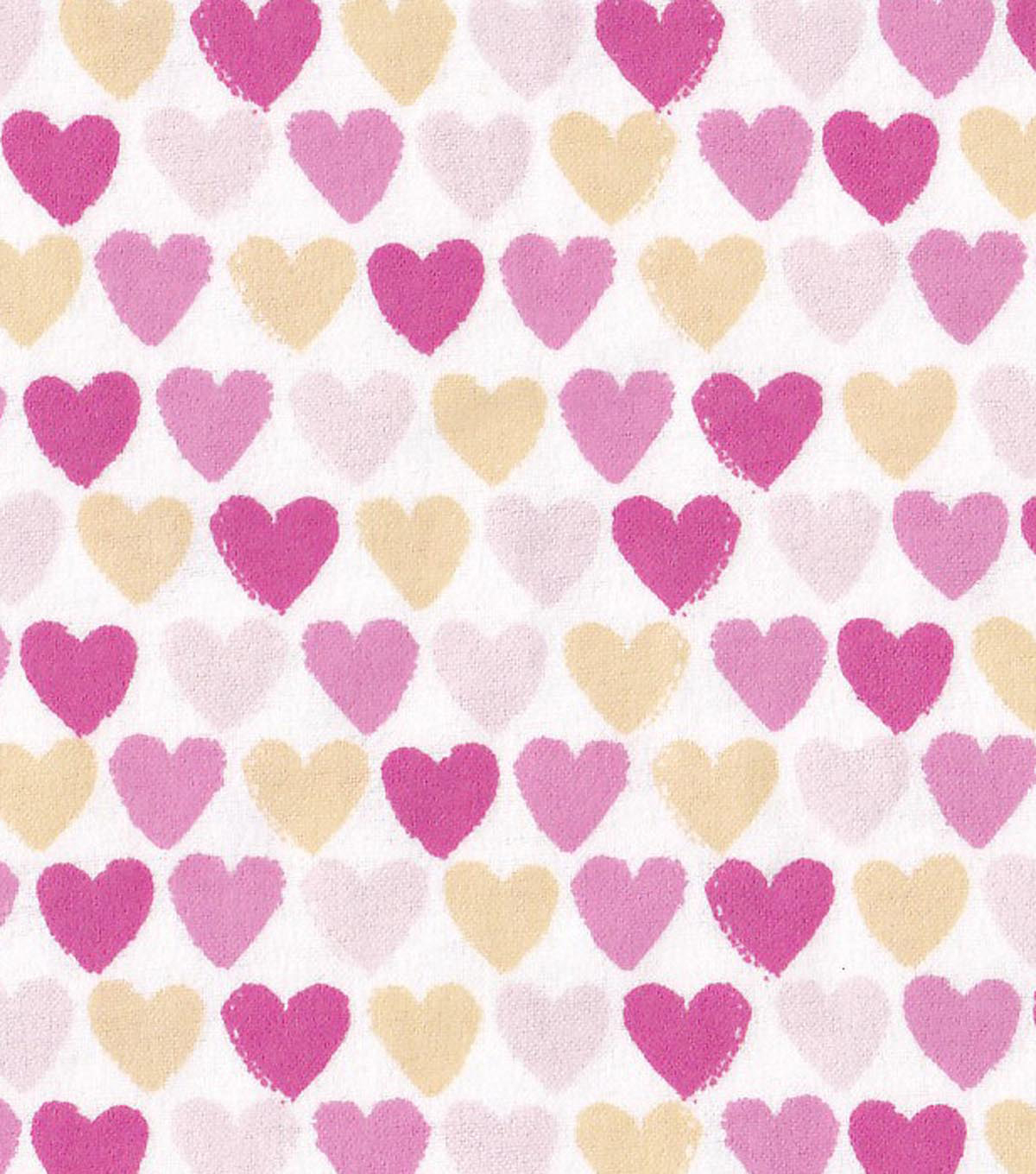 "Snuggle Flannel Fabric 42""-Pink Ylw Hearts"