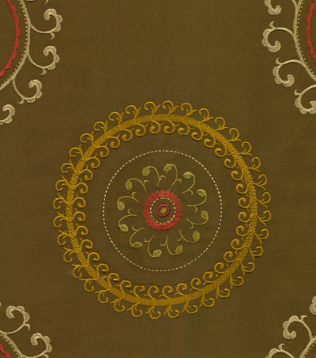Waverly Upholstery Fabric 57\u0022-Ottoman Ornament Clay