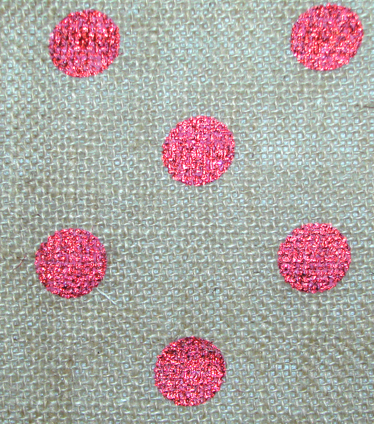 Metallic Dot Burlap Red