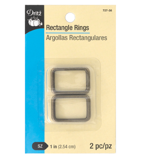"Dritz 1"" Rectangle Rings-Antique Brass"