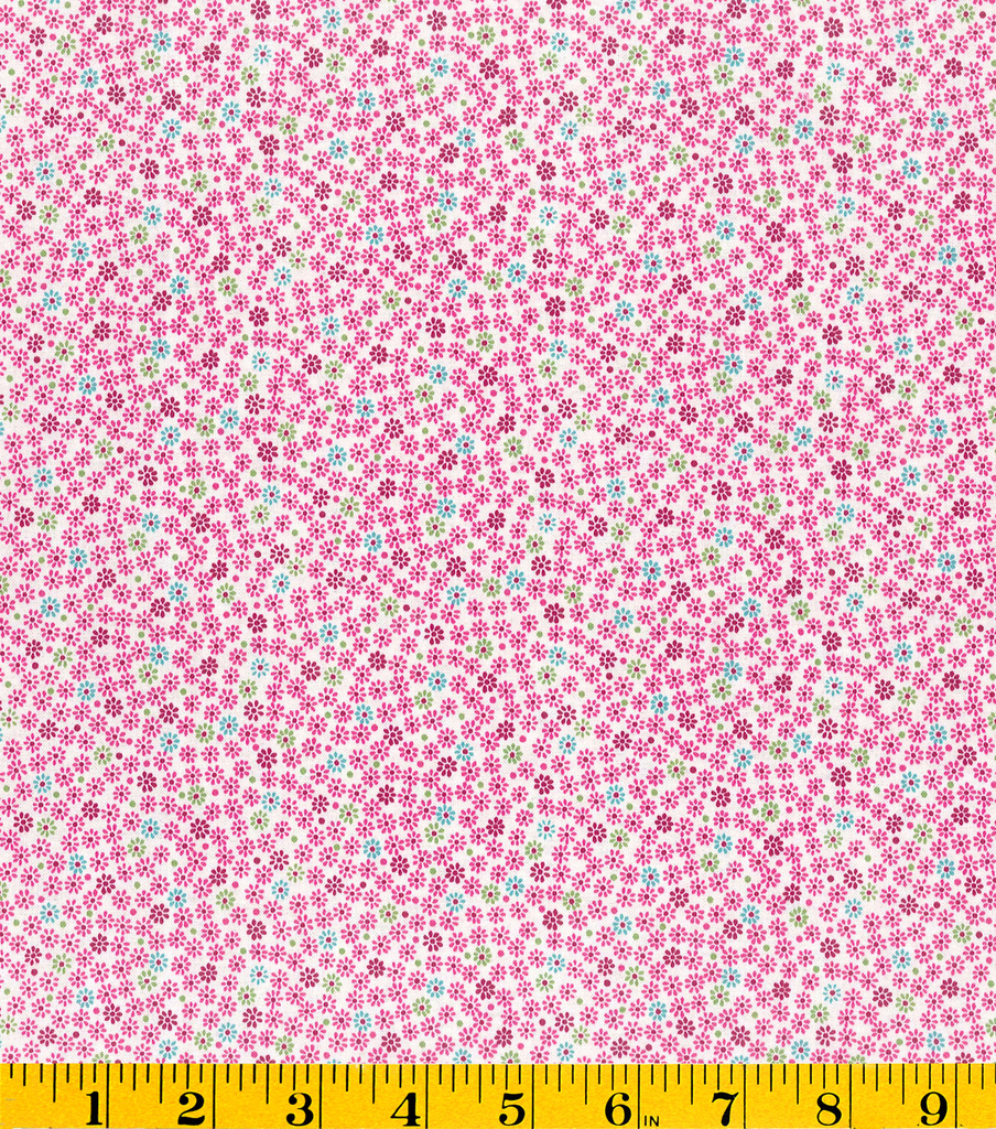 Stonehill Collection Cotton Fabric - Ditsy Floral Pink