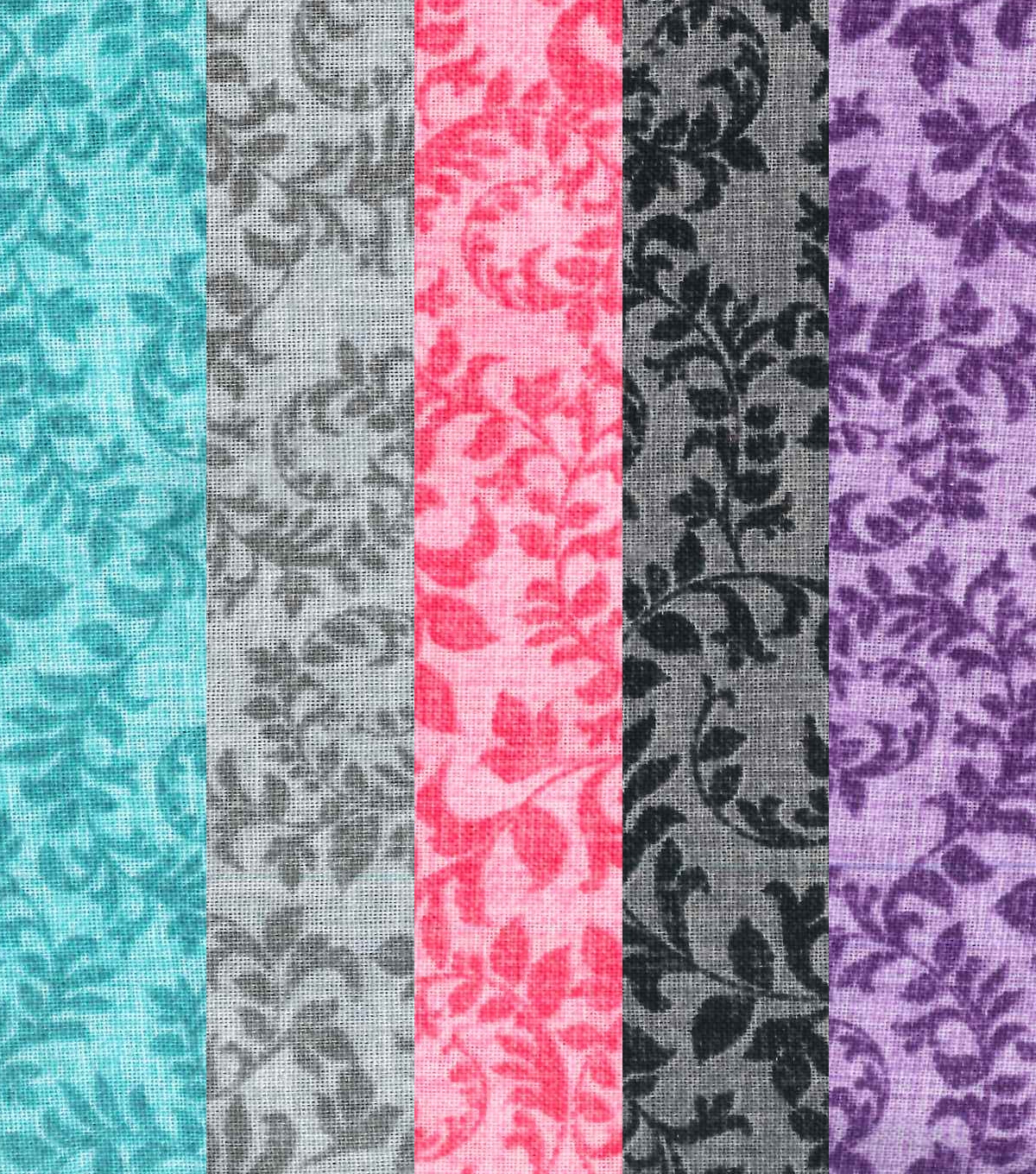 Fat Quarter Bundle Cotton Fabric 18\u0027\u0027-Blender Floral