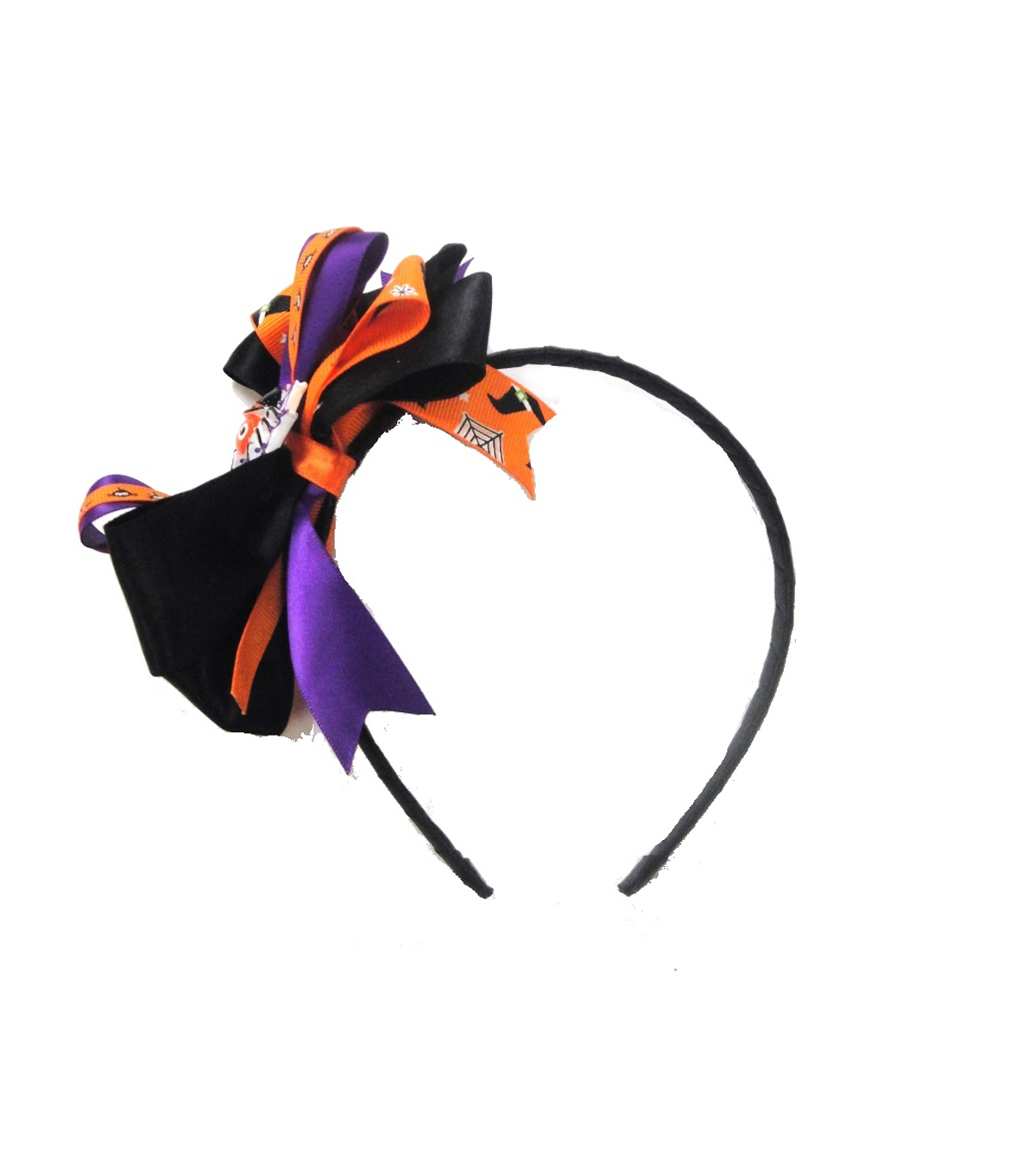 Maker\u0027s Halloween Spider Headband with Ribbons