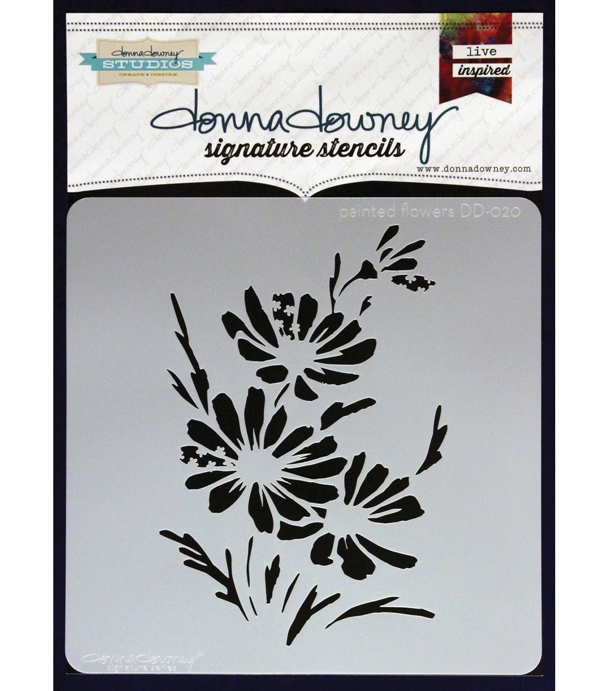 Donna Downey Signature Painted Flowers Stencils